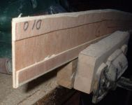 Trackbed with raised edge to enable the tight curves of Radius 260mm   [track_bed_006.jpg uploaded 11 Nov 2019]