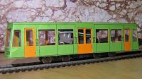 A freelance tram with plotted seam lines and two card colours used inside and out.   [mt7_01.jpg uploaded 15 May 2020]