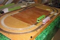 Overview of layout on 4~ x 2~ baseboard  [tram_factory1.jpg uploaded 25 Jun 2019]