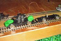 Diesel model bogies. Centre wheels removed.  [test_chassis_6.jpg uploaded 25 Jun 2019]