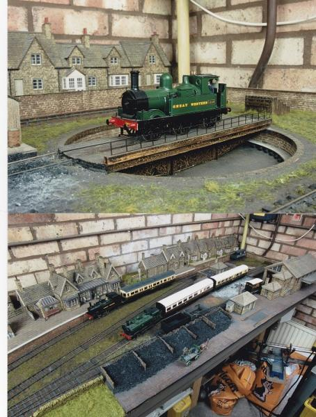 Small turntable as part of the run round loop - Layout