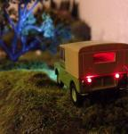 My first attempt at fitting lights into an Oxford Die cast Land Rover.  [image.jpg uploaded 24 Oct 2013]