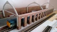 My first attempt at kit bashing - a train shed loosely based on my memories of Darlington