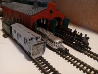 Loco Shed With Galloping Goose, Shay, & Rotary  [20210414_191718.jpg uploaded 14 Apr 2021]