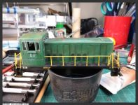 30 June 20201, and the last of the oil weathering is on. Only cleanup remains now, then AIM weathering powders - Photo 5  [GE_70_Tonner_2021-06-30_Oil_Weathering-5.JPG uploaded 30 Jun 2021]
